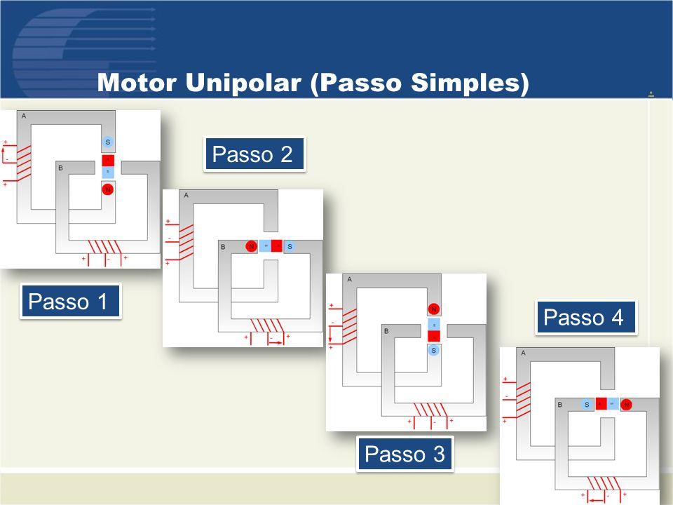Motor Unipolar (Passo Simples)