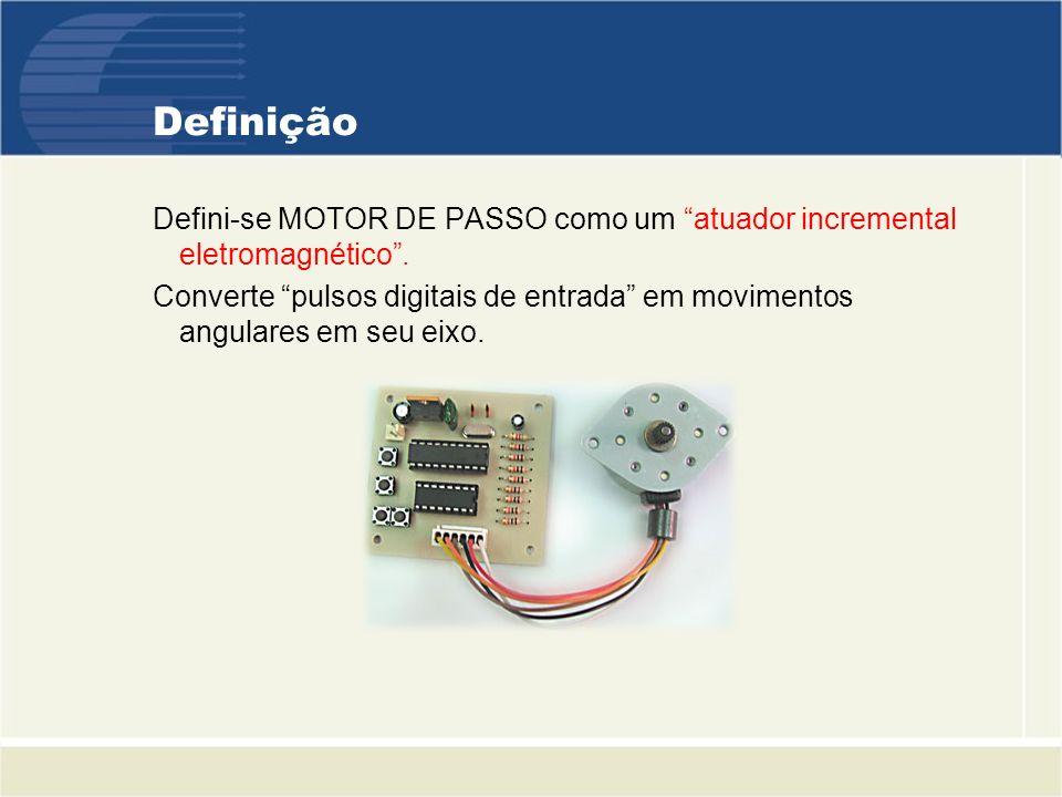 Definição Defini-se MOTOR DE PASSO como um atuador incremental eletromagnético .