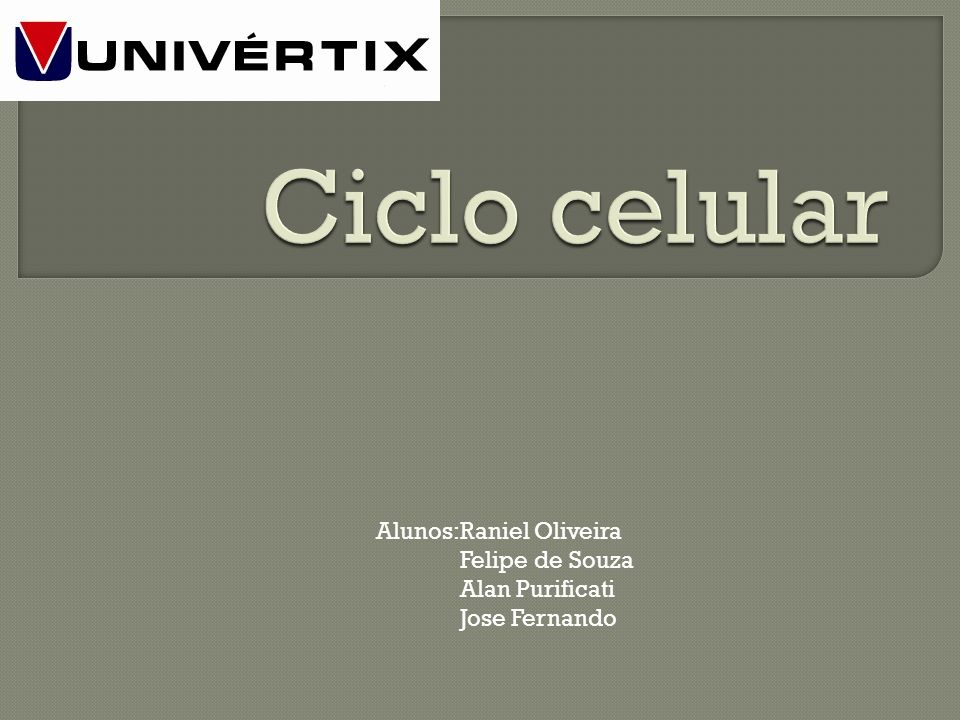 Ciclo celular Alunos:Raniel Oliveira Felipe de Souza Alan Purificati