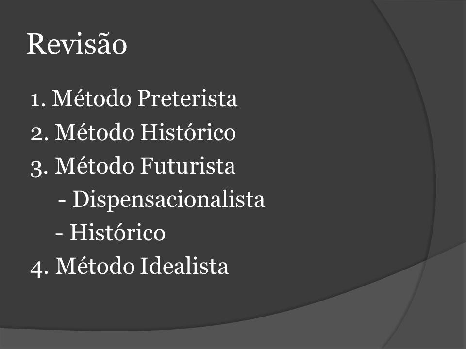 Revisão 1. Método Preterista 2. Método Histórico 3.