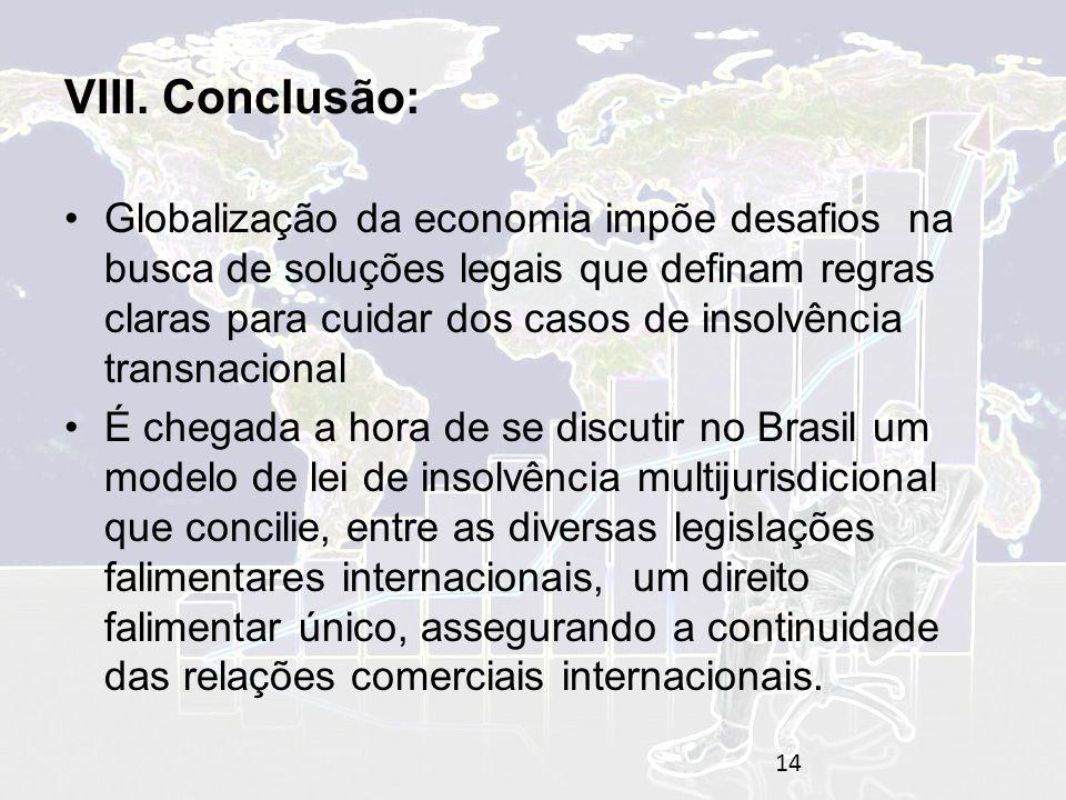 VIII. Conclusão:
