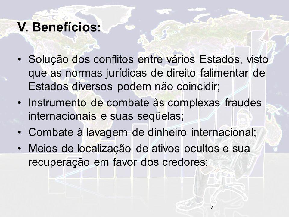 V. Benefícios: