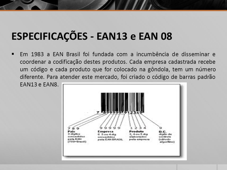 ESPECIFICAÇÕES - EAN13 e EAN 08