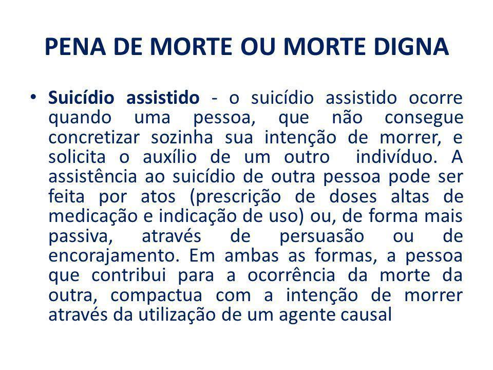 PENA DE MORTE OU MORTE DIGNA