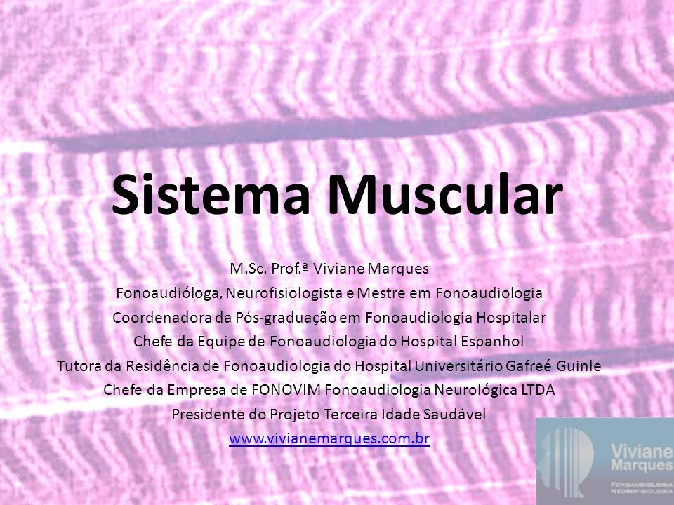 Sistema Muscular M.Sc. Prof.ª Viviane Marques