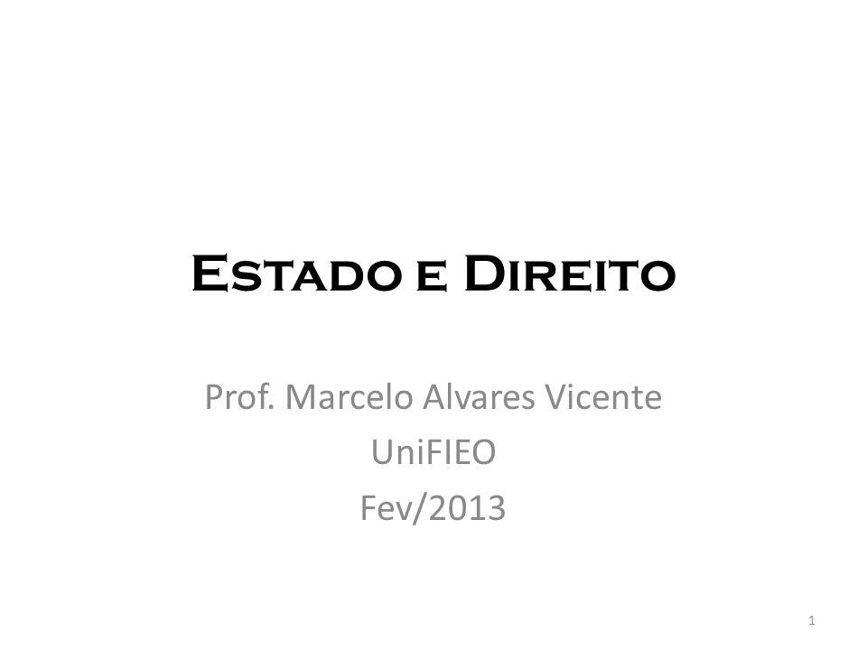 Prof. Marcelo Alvares Vicente UniFIEO Fev/2013