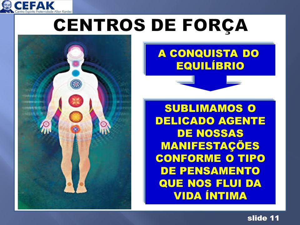 CENTROS DE FORÇA A CONQUISTA DO EQUILÍBRIO