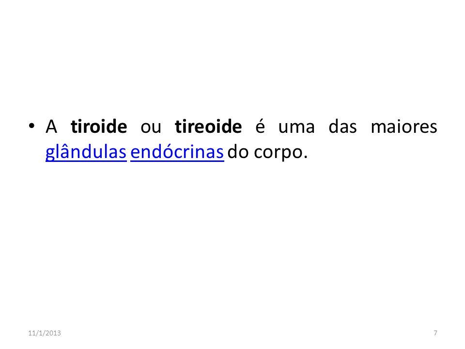 A tiroide ou tireoide é uma das maiores glândulas endócrinas do corpo.