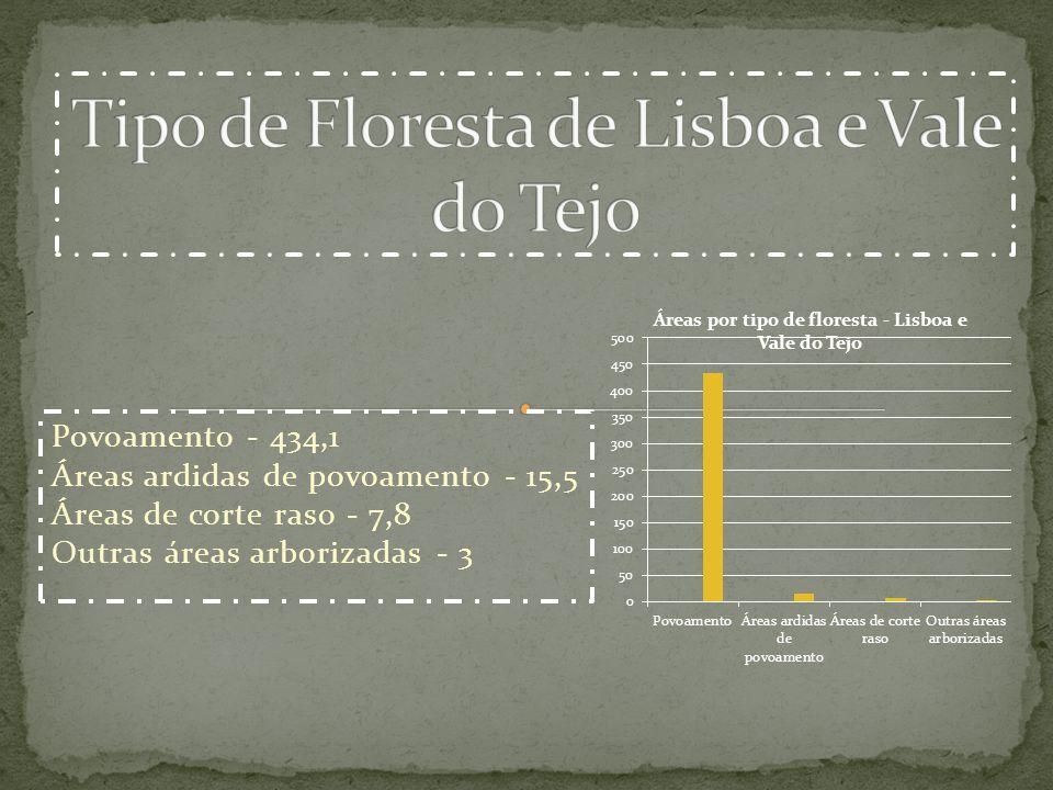 Tipo de Floresta de Lisboa e Vale do Tejo