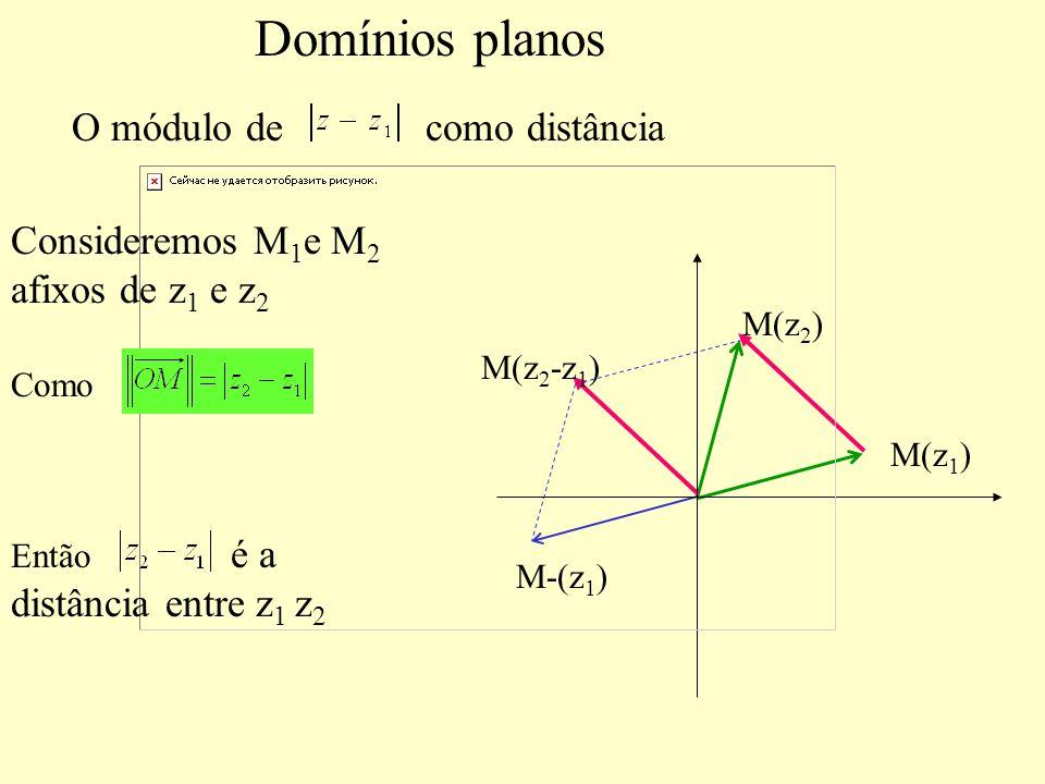 Domínios planos O módulo de como distância