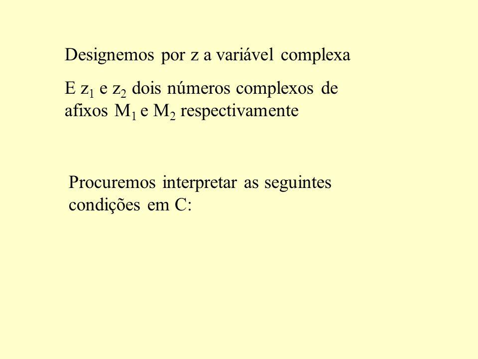 Designemos por z a variável complexa