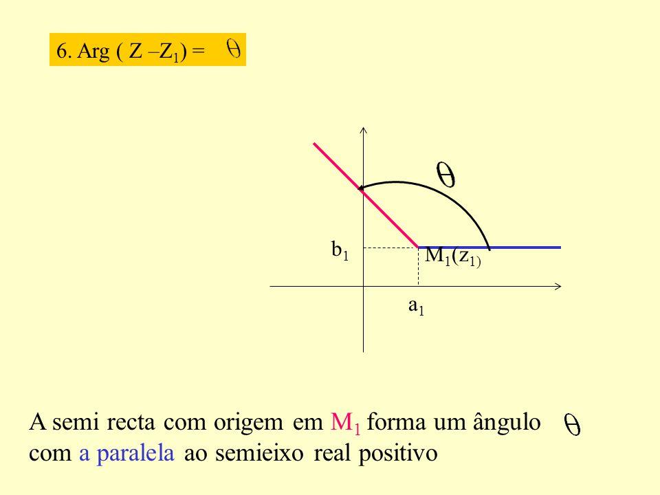 6. Arg ( Z –Z1) = a1. b1.