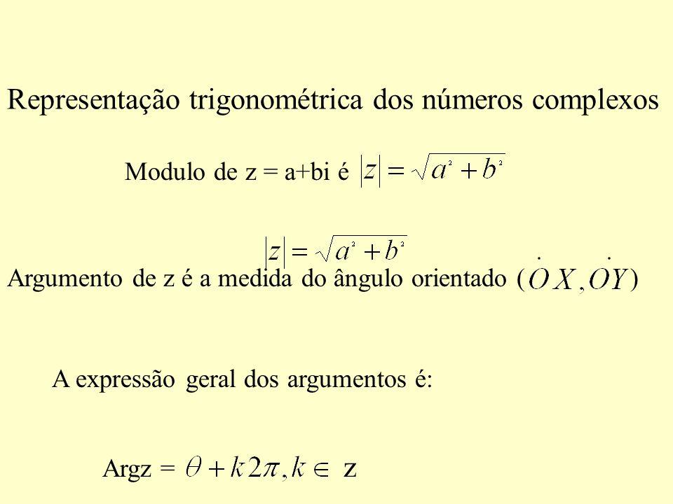 Representação trigonométrica dos números complexos