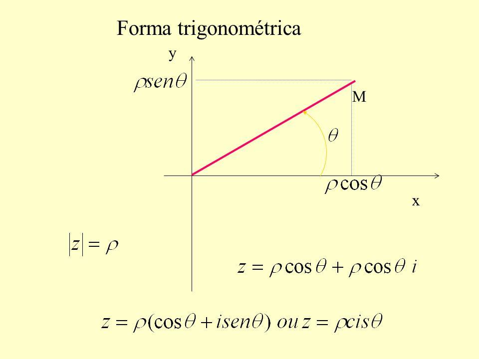 Forma trigonométrica x y M