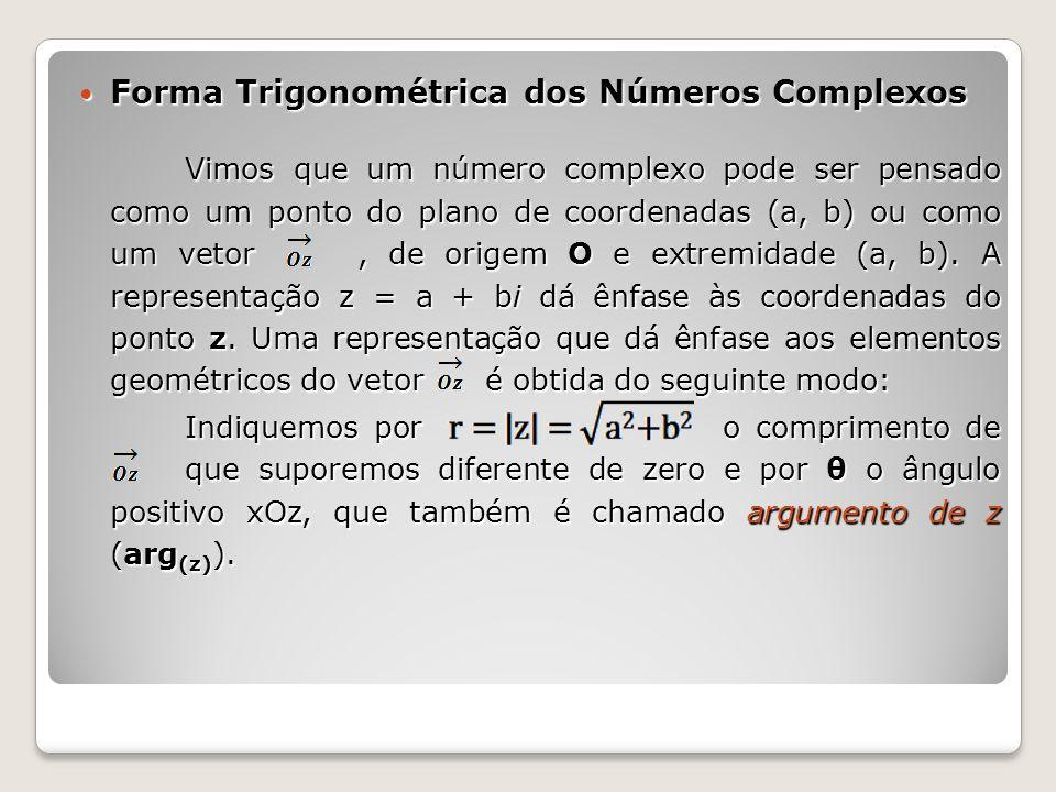 Forma Trigonométrica dos Números Complexos