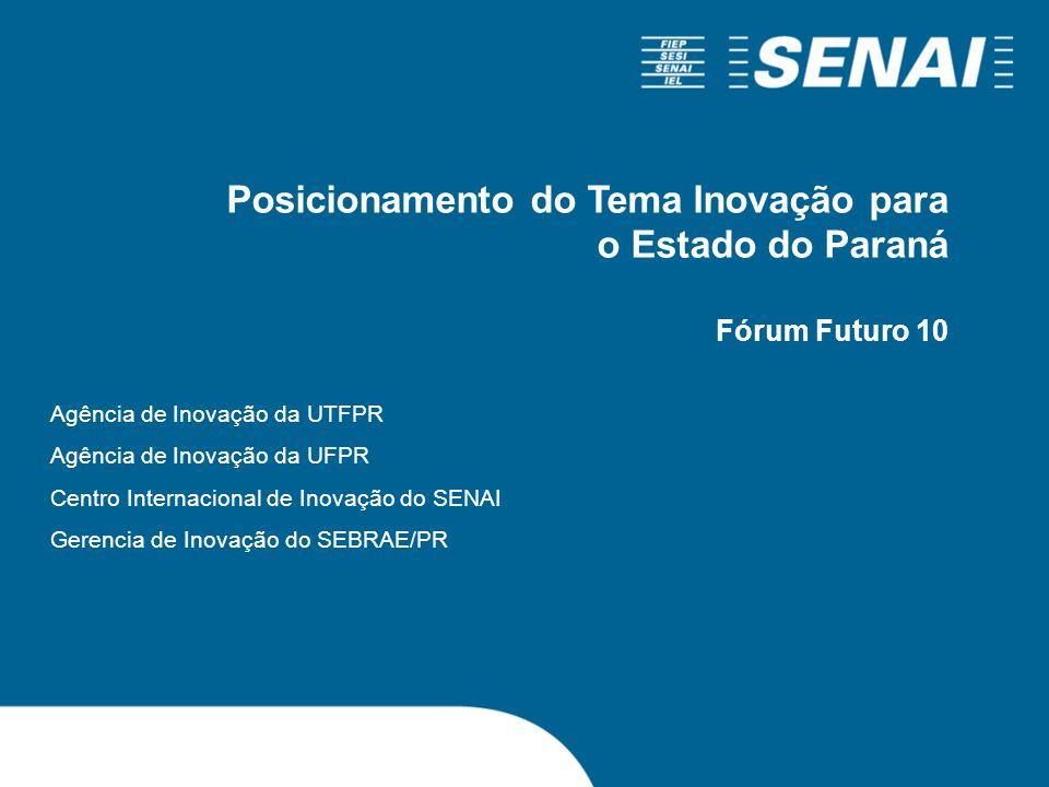 Posicionamento do Tema Inovação para o Estado do Paraná