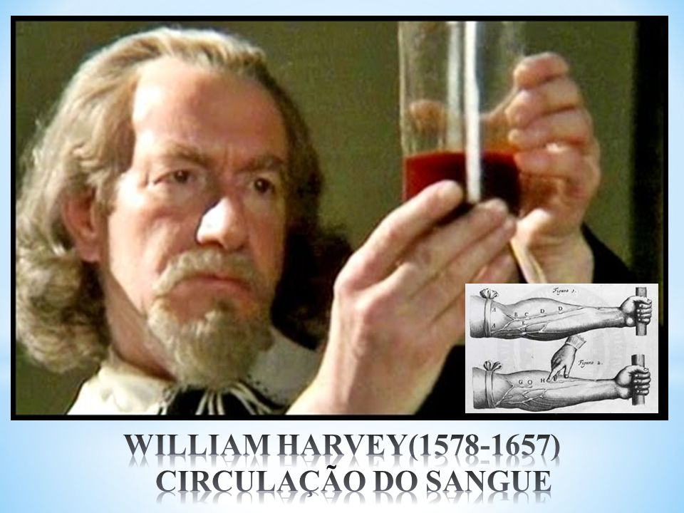 WILLIAM HARVEY(1578-1657) CIRCULAÇÃO DO SANGUE