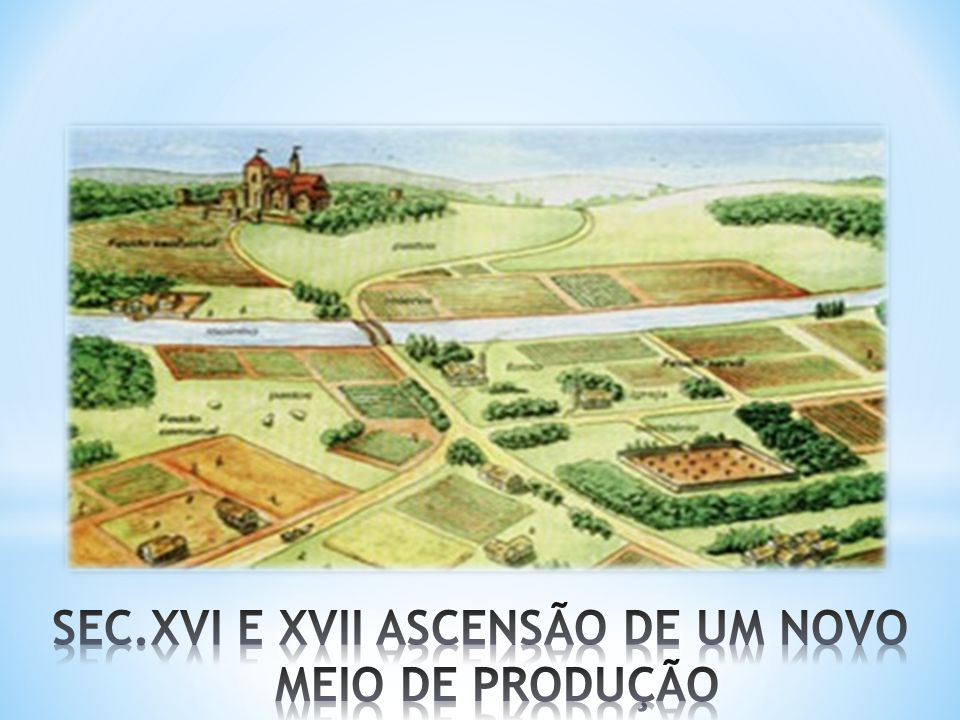SEC.XVI E XVII ASCENSÃO DE UM NOVO MEIO DE PRODUÇÃO