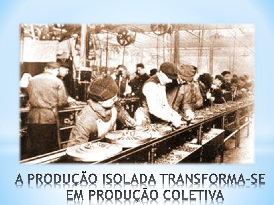 A PRODUÇÃO ISOLADA TRANSFORMA-SE EM PRODUÇÃO COLETIVA