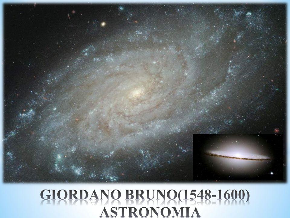 GIORDANO BRUNO(1548-1600) ASTRONOMIA