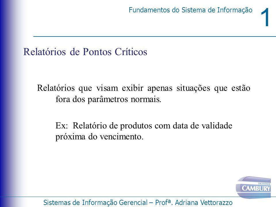 Relatórios de Pontos Críticos