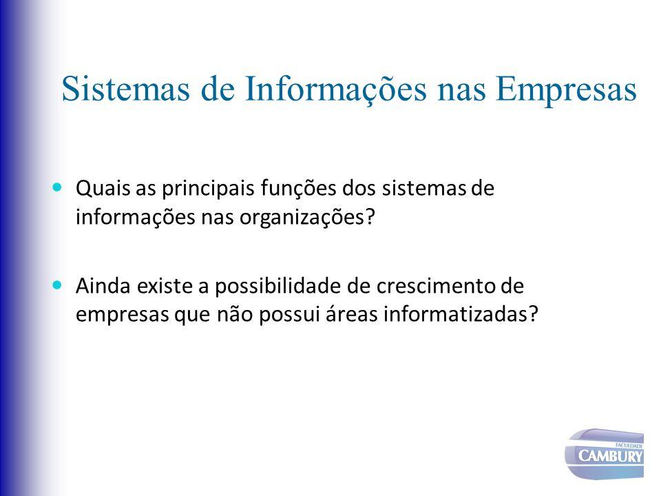 Sistemas de Informações nas Empresas