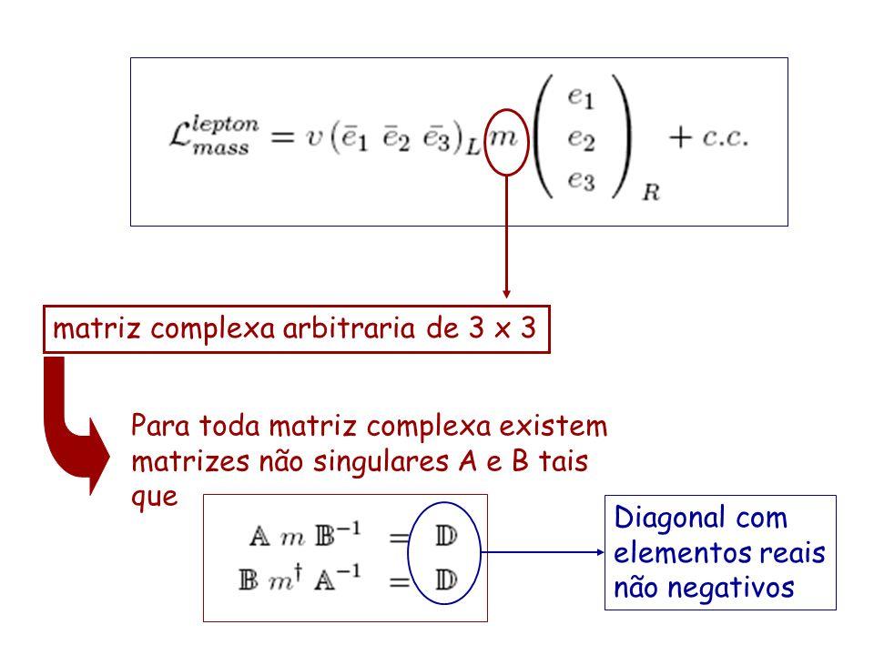 matriz complexa arbitraria de 3 x 3