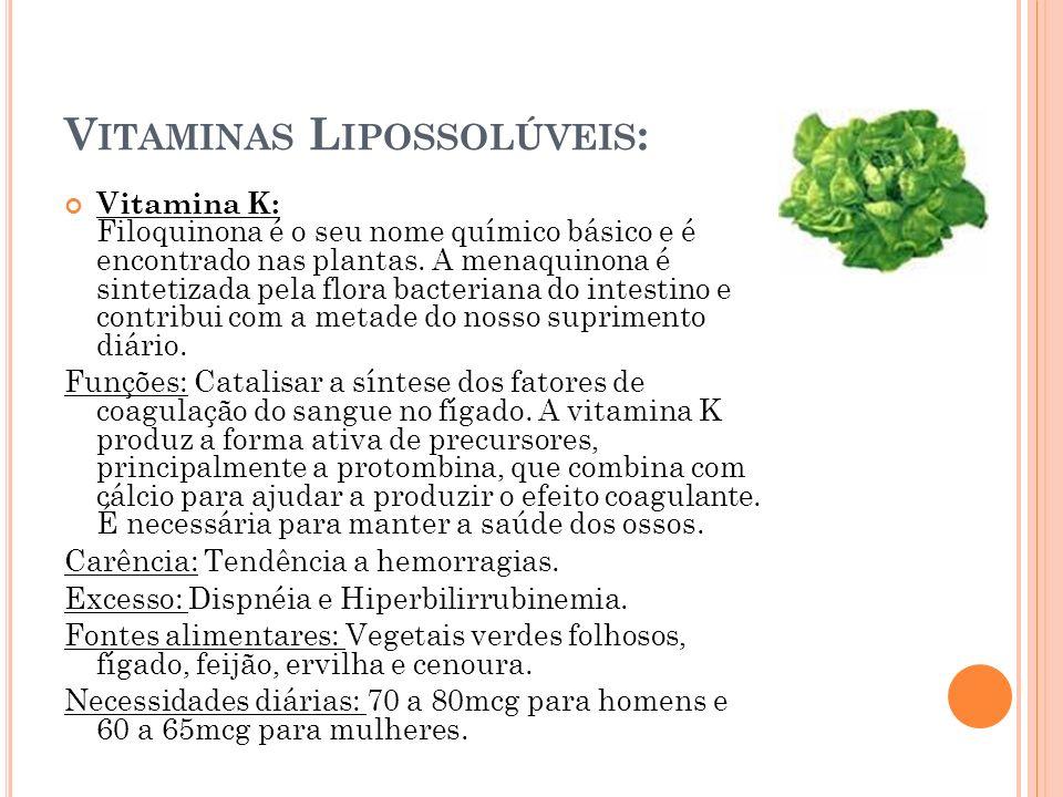 Vitaminas Lipossolúveis: