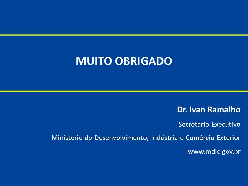 MUITO OBRIGADO Dr. Ivan Ramalho Secretário-Executivo