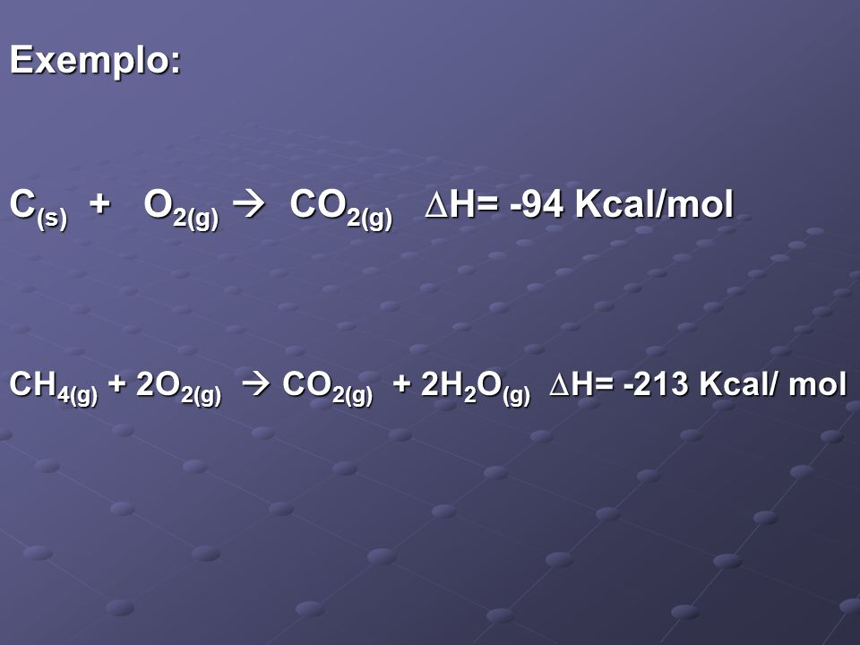 C(s) + O2(g)  CO2(g) H= -94 Kcal/mol