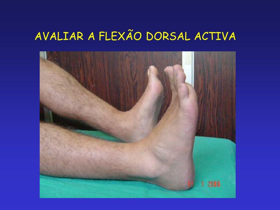 AVALIAR A FLEXÃO DORSAL ACTIVA
