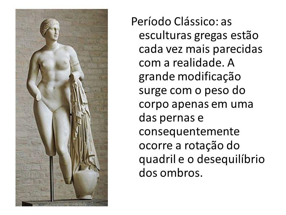 Período Clássico: as esculturas gregas estão cada vez mais parecidas com a realidade.