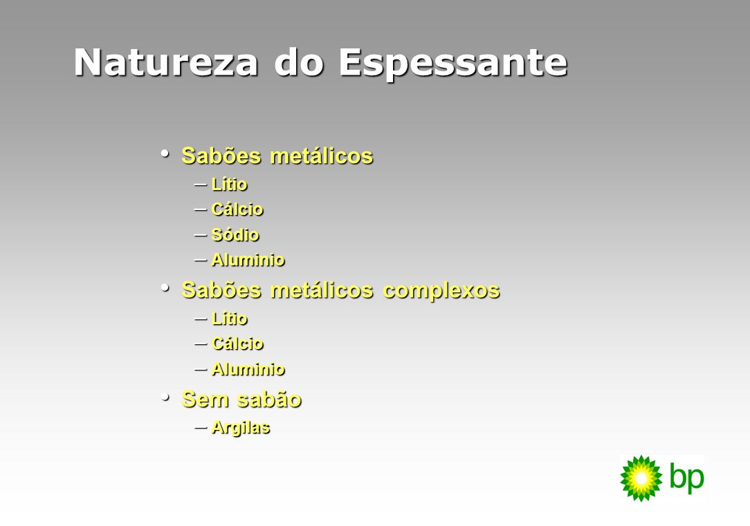 Natureza do Espessante