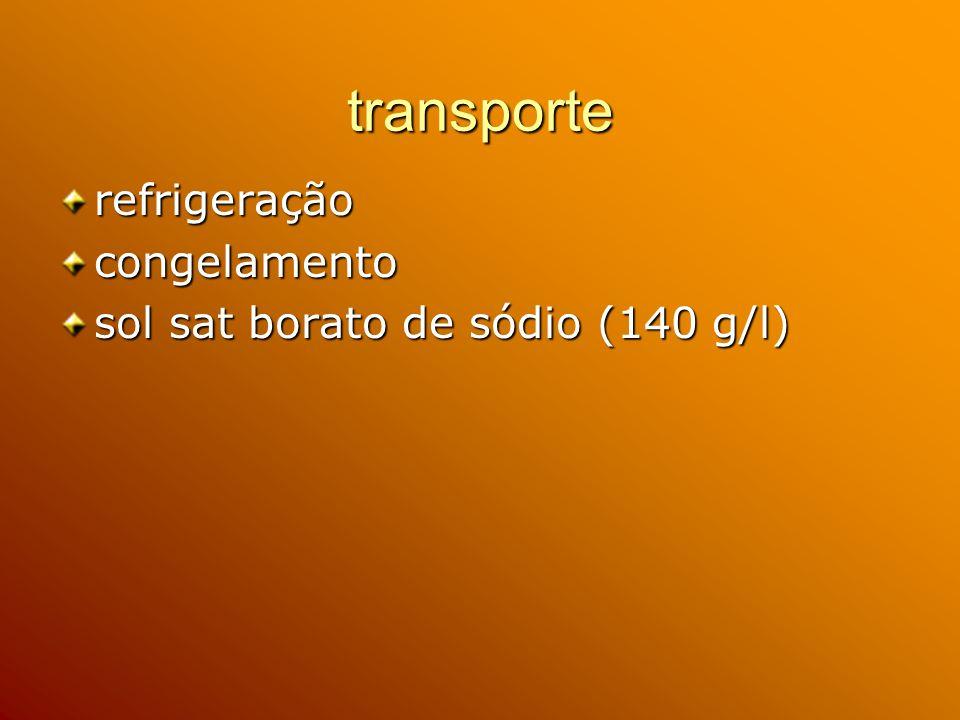 transporte refrigeração congelamento sol sat borato de sódio (140 g/l)
