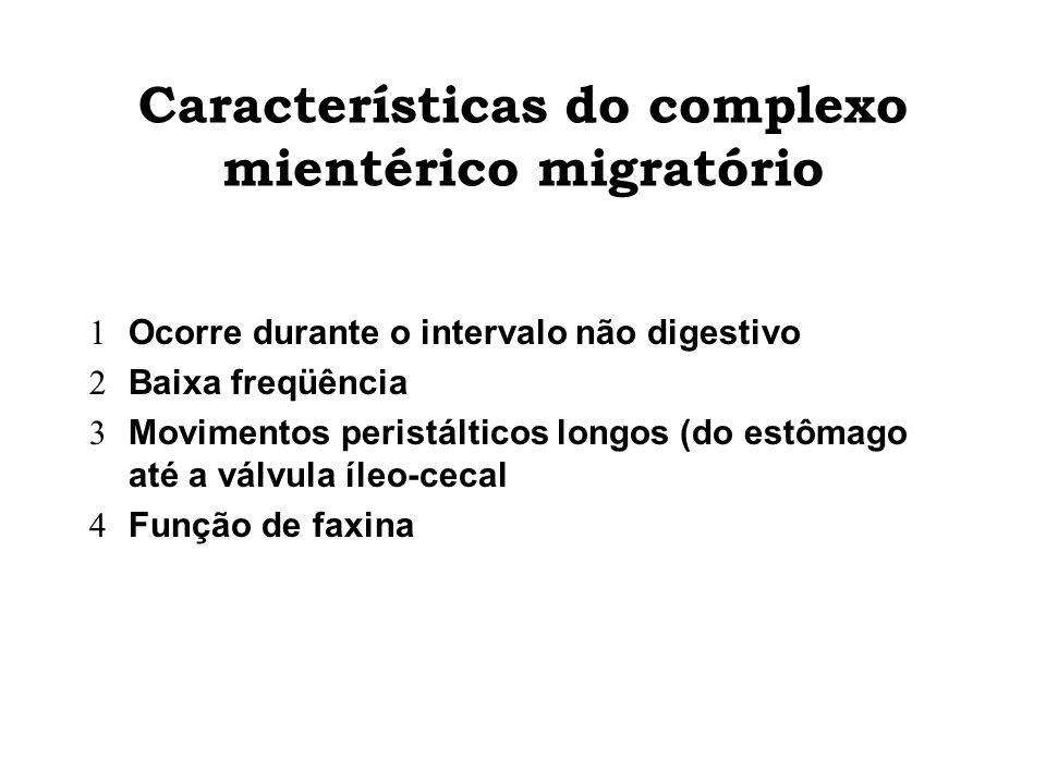 Características do complexo mientérico migratório