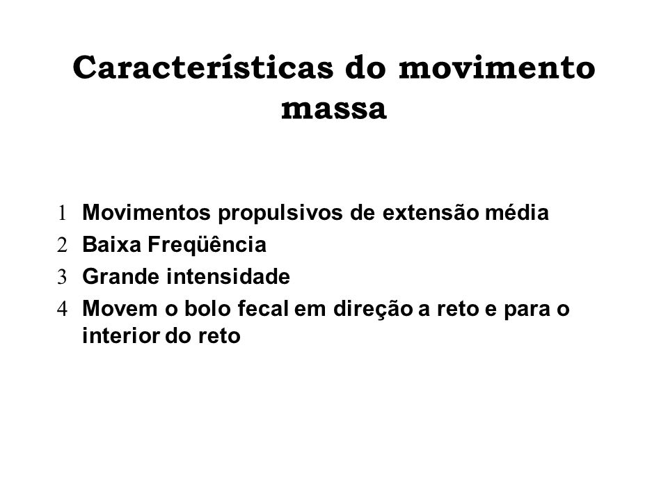 Características do movimento massa