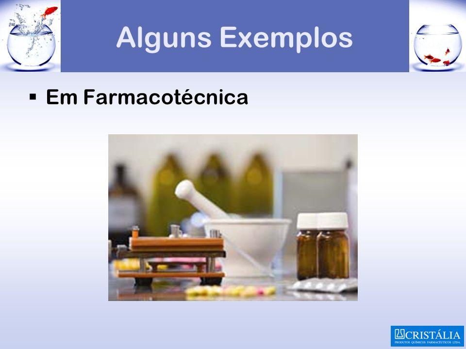 Alguns Exemplos Em Farmacotécnica