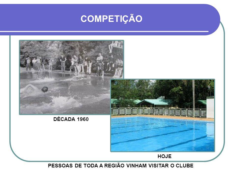PESSOAS DE TODA A REGIÃO VINHAM VISITAR O CLUBE