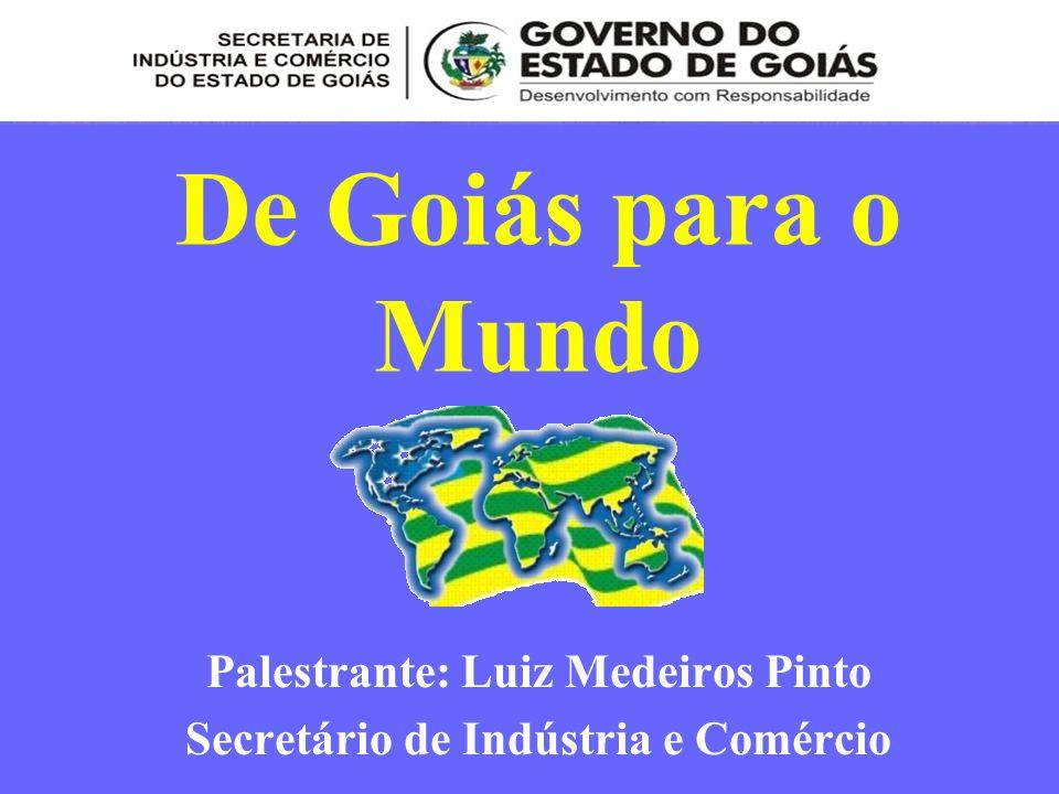 Palestrante: Luiz Medeiros Pinto Secretário de Indústria e Comércio