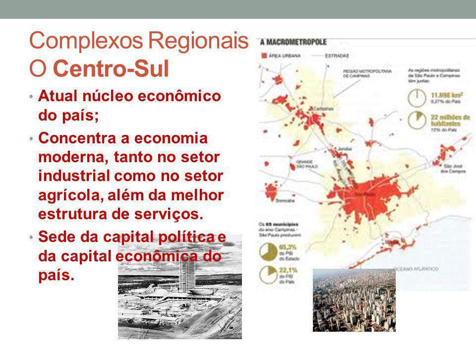 Complexos Regionais O Centro-Sul