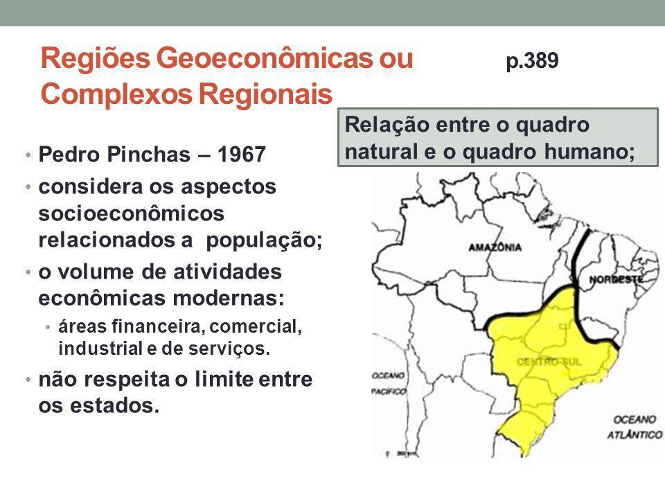 Regiões Geoeconômicas ou p.389 Complexos Regionais