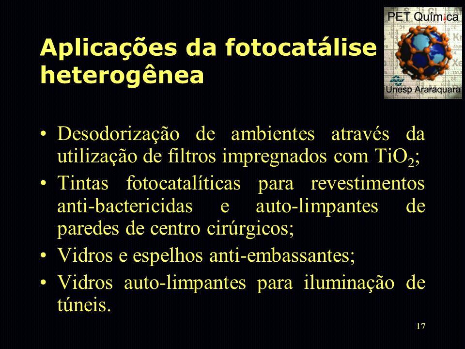 Aplicações da fotocatálise heterogênea