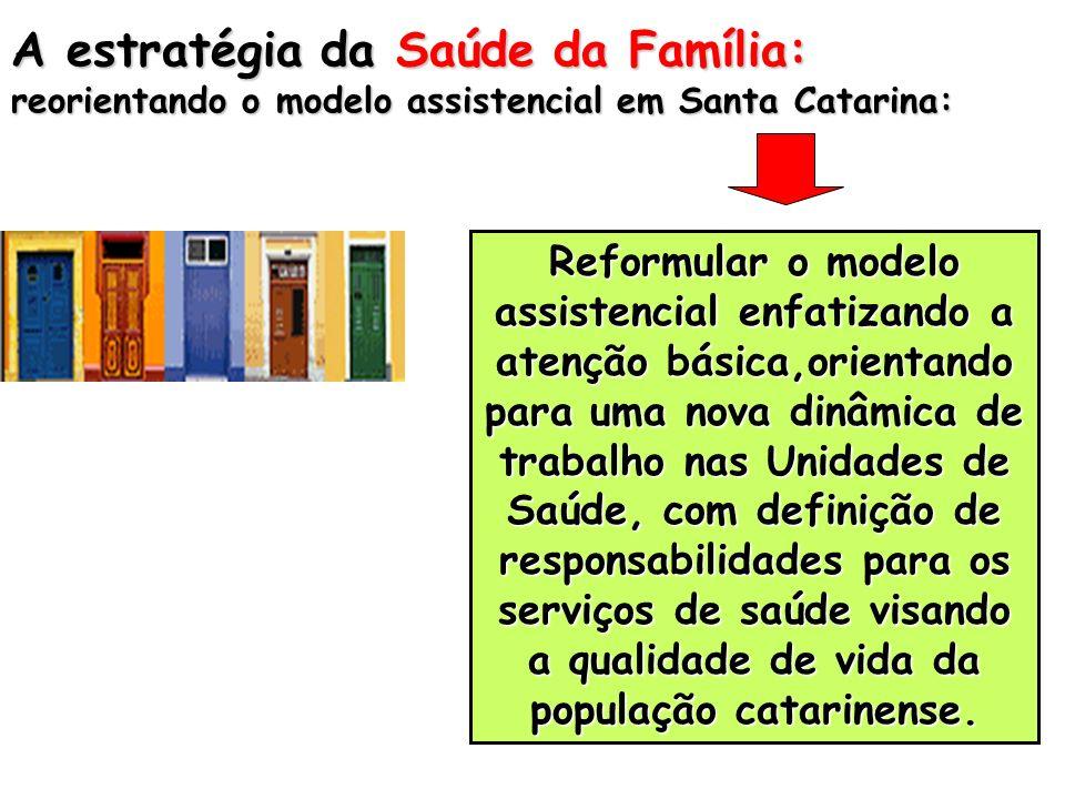 A estratégia da Saúde da Família: reorientando o modelo assistencial em Santa Catarina: