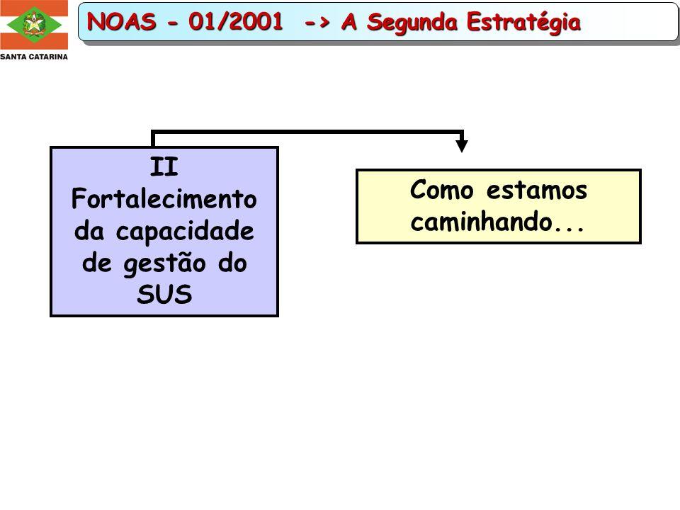II Fortalecimento da capacidade de gestão do SUS