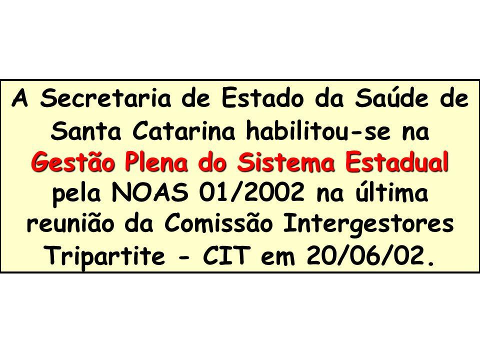 A Secretaria de Estado da Saúde de Santa Catarina habilitou-se na