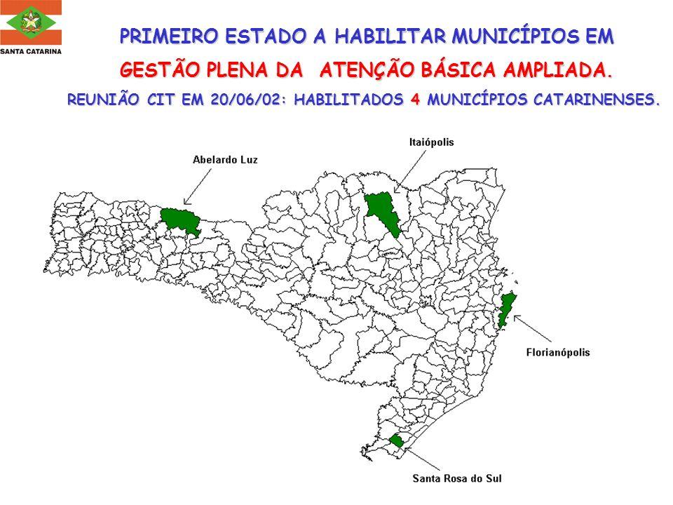 PRIMEIRO ESTADO A HABILITAR MUNICÍPIOS EM