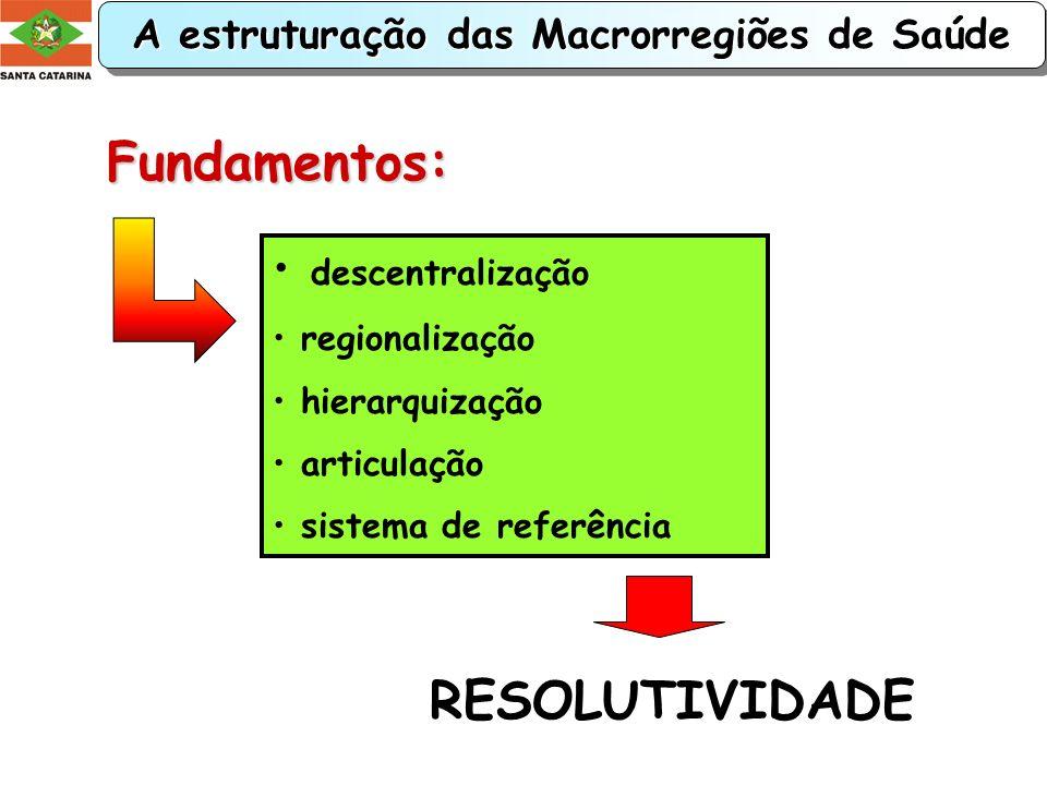 A estruturação das Macrorregiões de Saúde