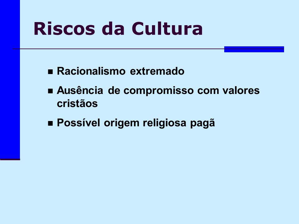 Riscos da Cultura Racionalismo extremado