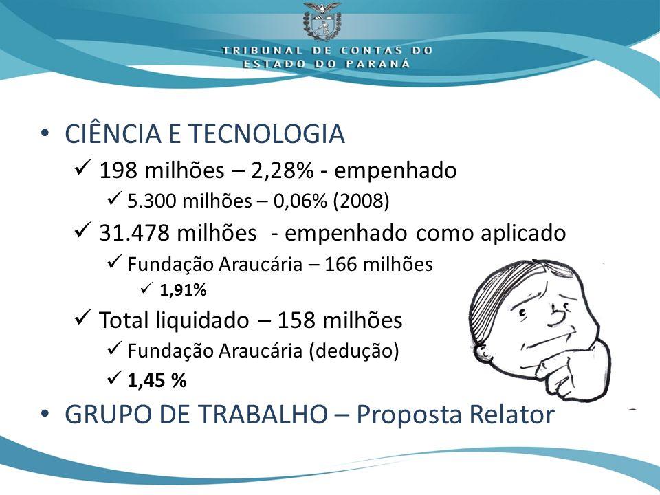GRUPO DE TRABALHO – Proposta Relator
