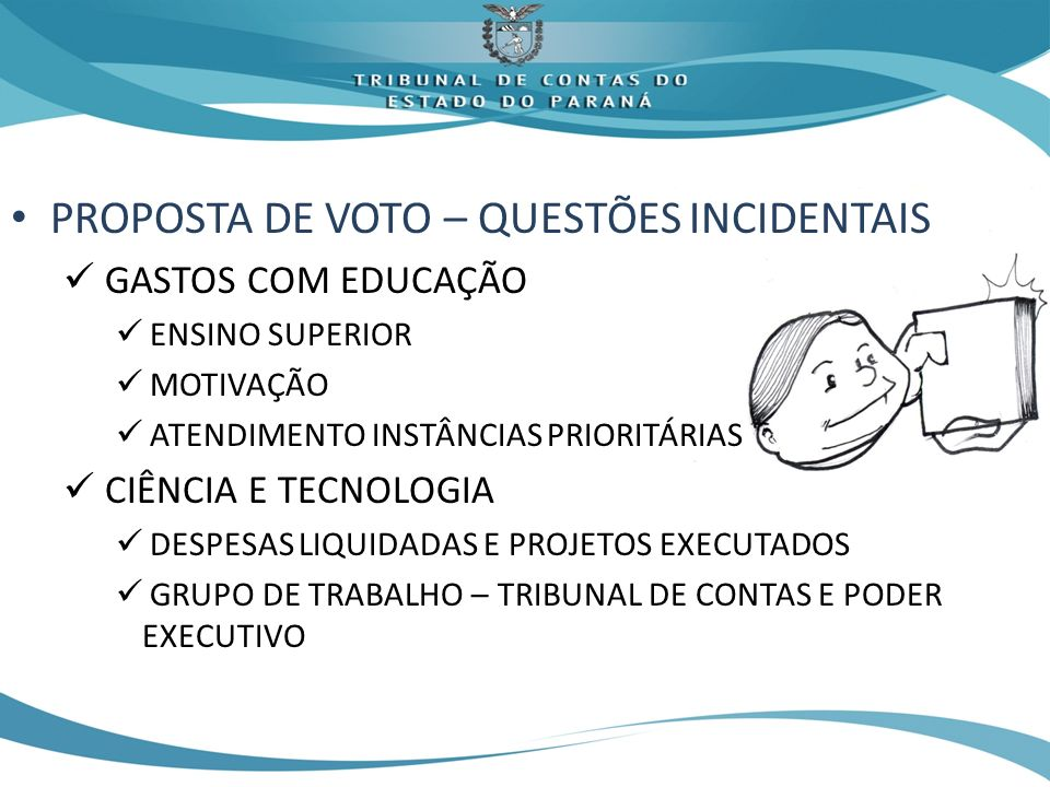 PROPOSTA DE VOTO – QUESTÕES INCIDENTAIS